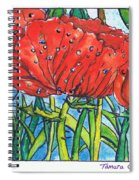 Red Poppy 1 Spiral Notebook