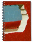 Red Porch Grey Wall Spiral Notebook