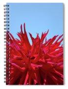 Red Purple Dahlia Flower Art Print Giclee Baslee Troutman Spiral Notebook
