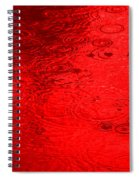 Red Rain Droplets Spiral Notebook