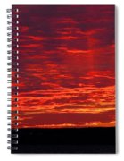 Red Ray Sunset Spiral Notebook