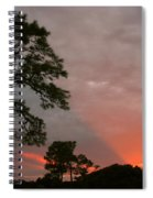 Red Rays Spiral Notebook
