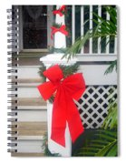 Red Ribbon On Steps Spiral Notebook