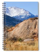 Red Rock And Pikes Peak Spiral Notebook