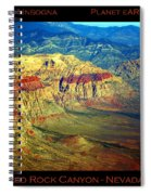 Red Rock Canyon Poster Print Spiral Notebook