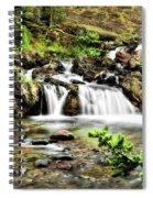 Red Rock Falls, Glacier National Park, Montana Spiral Notebook