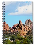 Red Rock Formations Spiral Notebook