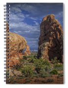 Red Rock Formations On A Desert Plateau In Utah Spiral Notebook