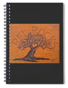 Red Rocks Love Tree Spiral Notebook