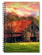 Red Roof At Sunset Spiral Notebook