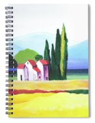 Red Roof Pastoral Spiral Notebook