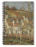 Red Roofs, Corner Of A Village, Winter Spiral Notebook