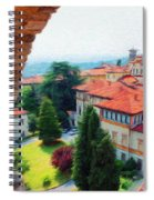 Red Roofs Spiral Notebook