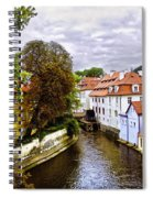 Red Roofs Of Prague - 2015 Spiral Notebook
