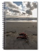 Red Rope On The Beach Spiral Notebook