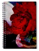 Red Rose And The Mirror Spiral Notebook