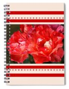 Red Rose With A Whisper Of Yellow And Design Spiral Notebook