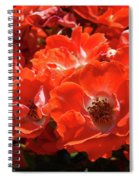Red Roses Botanical Landscape 1 Red Rose Giclee Prints Baslee Troutman Spiral Notebook