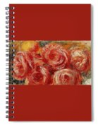 Red Roses Pierre-auguste Renoir Spiral Notebook