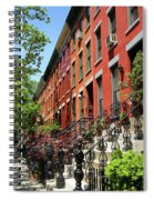 Red Row Houses Spiral Notebook