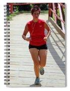 Red Runner Spiral Notebook