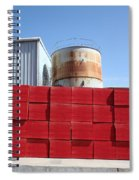 Red Rust And Blue Spiral Notebook