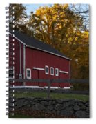 Red Rustic Barn Spiral Notebook