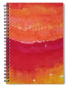 Red Saddle Original Painting Spiral Notebook