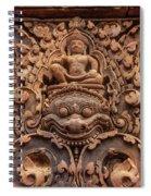 Red Sandstone Kala - Cambodia Spiral Notebook