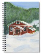 Red School House Spiral Notebook