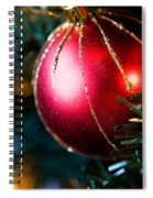 Red Shiny Ornament Spiral Notebook