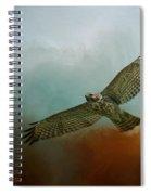 Red Shoulder In Autumn Spiral Notebook