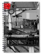 Red Signal Spiral Notebook