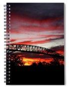 Red Skies At Pleasure Island Bridge Spiral Notebook