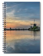Red Skies Over Kinderdijk Spiral Notebook