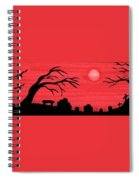 Red Sky Cemetery Spiral Notebook