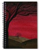 Red Sky - Dark Hills Spiral Notebook