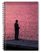 Red Sky Fishing Spiral Notebook