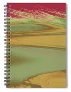 Red Sky Landscape Spiral Notebook