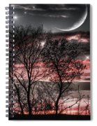 Red Sky Moon Spiral Notebook
