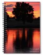Red Sky Reflection With Tree Spiral Notebook