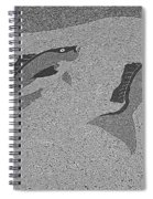 Red Snapper Inlay In Grayscale Spiral Notebook