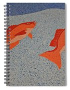 Red Snapper Inlay On Alabama Welcome Center Floor Spiral Notebook