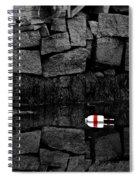 Red Stripe Express Spiral Notebook