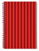 Red Striped Pattern Design Spiral Notebook