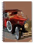 Red Stutz Spiral Notebook