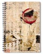 Red Sun Collage Spiral Notebook