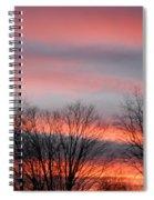 Red Sun Set Spiral Notebook