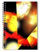 Red Sun Shell Spiral Notebook