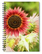 Red Sunflower, Provence, France Spiral Notebook